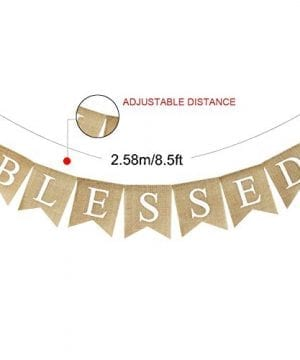Blessed Banner Burlap Blessed Bunting Rustic Thanksgiving Decor Thanksgiving Banner Family Photo Prop Mantle Fireplace Hanging Decor Holiday Decorations 0 2 300x360
