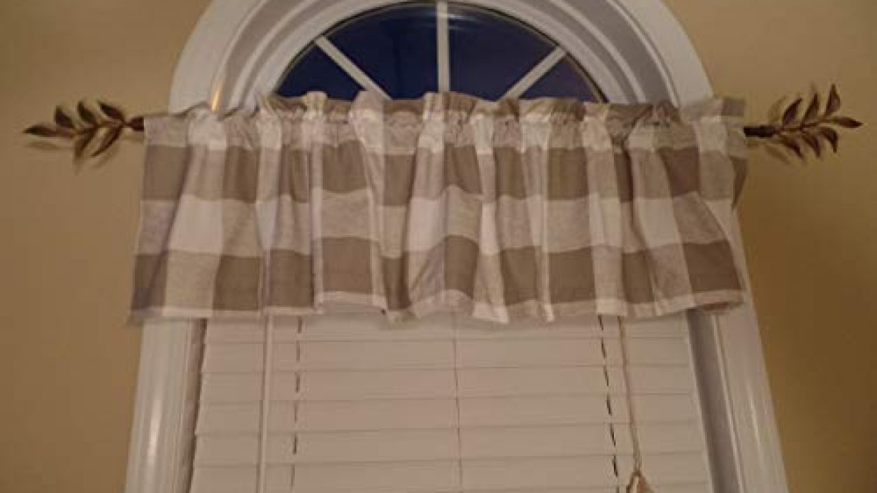 French Country Style Checked Kitchen Curtains Tier Valance Window Set