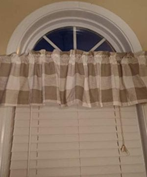Buffalo Check Farmhouse Window Valance French Country Curtain ValanceWindow Treatment Available In 3 Colors 0 300x360