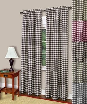 Buffalo Check Gingham Window Panel Single 42 X 84 5 Colors 0 300x360