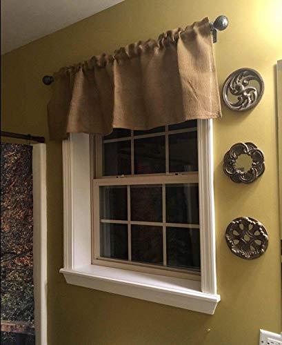 Burlap 52 Wide X 15 Long Tan WINDOW CURTAIN VALANCE KHAKI Solid Color Burlap FABRIC 0 0