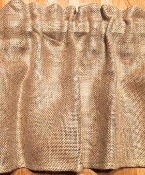Burlap 52 Wide X 15 Long Tan WINDOW CURTAIN VALANCE KHAKI Solid Color Burlap FABRIC 0 1 300x360