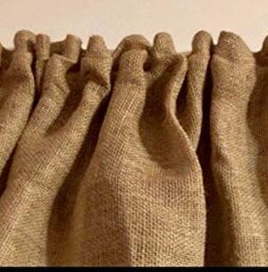 Burlap 52 Wide X 15 Long Tan WINDOW CURTAIN VALANCE KHAKI Solid Color Burlap FABRIC 0 300x305
