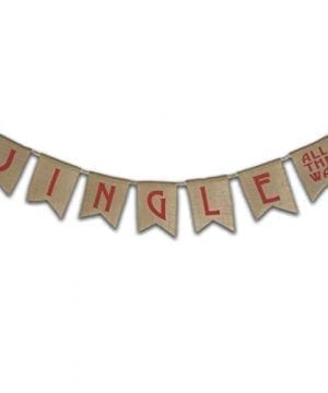 Burlap Christmas Gingle All The Way Banner Vintage Decorations Country Rustic Fireplace Dcor Farmhouse Ornaments Adjustable Natural Jute Flags Fabric Garland Holiday Party Supplies 0 300x360