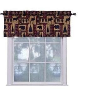 Cabin Pine Retreat Lodge Tapestry Window Valance Modern Rustic 54x16 NEW 0 0 300x360