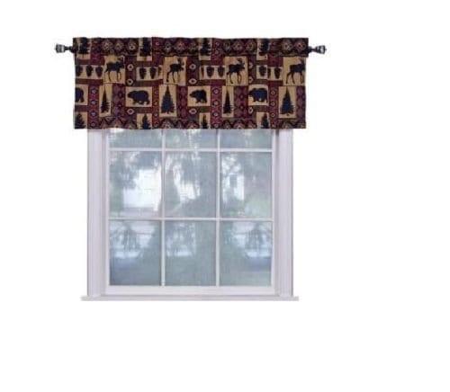 Cabin Pine Retreat Lodge Tapestry Window Valance Modern Rustic 54x16 NEW 0 0