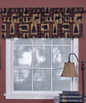 Cabin Pine Retreat Lodge Tapestry Window Valance Modern Rustic 54x16 NEW 0 300x360