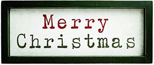 Carson Merry Christmas Wood Wall And Table Decor 0
