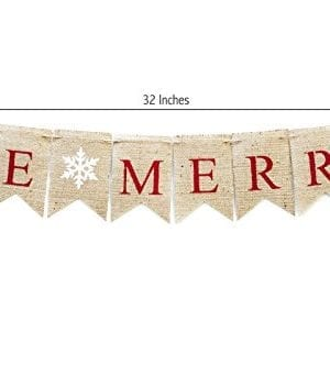 Christmas Banner Be Merry Holiday Burlap Banner B011 0 0 300x332