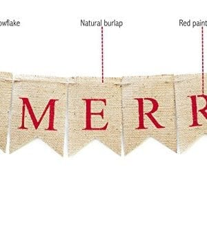 Christmas Banner Be Merry Holiday Burlap Banner B011 0 1 300x332