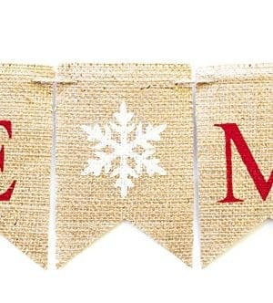 Christmas Banner Be Merry Holiday Burlap Banner B011 0 2 300x332