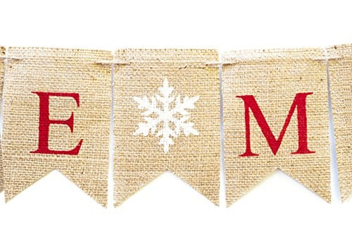 Christmas Banner Be Merry Holiday Burlap Banner B011 0 2