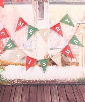 Christmas Decorations Banner Merry Christmas Burlap Banner Triangle Christmas Banner RedGreen Burlap Christmas Banner Garlands For Christmas Home Decor Xmas Party Photo Props VAG034 0 300x360
