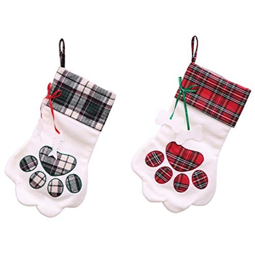 Christmas Decorations Cat Paw Plush Socks Christmas Tree Hanging Ornaments Home Decor