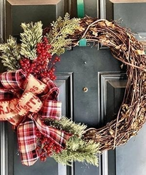 Christmas Grapevine Wreath Farmhouse Wreath Rustic Christmas Wreath Holiday Wreath Winter Wreath Country Christmas Wreath Holiday Decor Christmas Grapevine Pinecone Grapevine Wreath 0 300x360