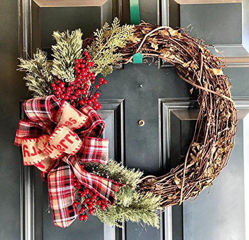 Christmas Grapevine Wreath Farmhouse Wreath Rustic Christmas Wreath Holiday Wreath Winter Wreath Country Christmas Wreath Holiday Decor Christmas Grapevine Pinecone Grapevine Wreath 0