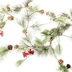 Christmas Smokey Pine And Red Berry Garland 6 Feet Great Indoor And Outdoor Christmas Decor Bring The Warmth Of The Holidays To Your Home This Winter 0 0 300x300