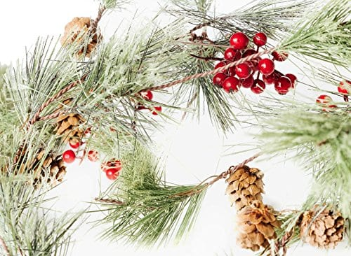Smokey Pine And Red Berry Christmas Garland