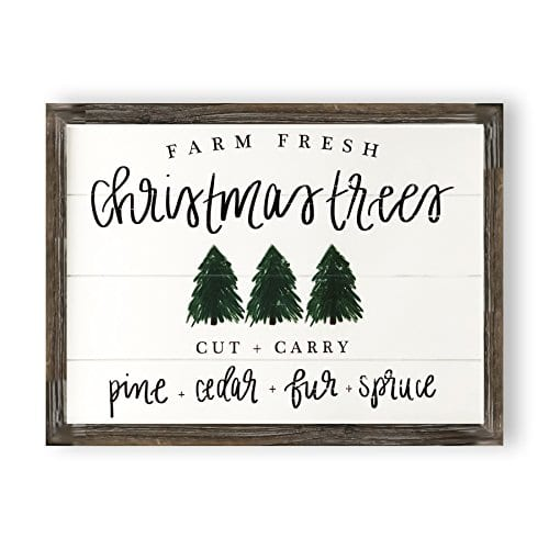 Christmas Trees Shiplap Wood Sign Rustic Home Decor Wooden Wall Art Plaque Signs With Sayings And Quotes Farmhouse Farmhouse Goals