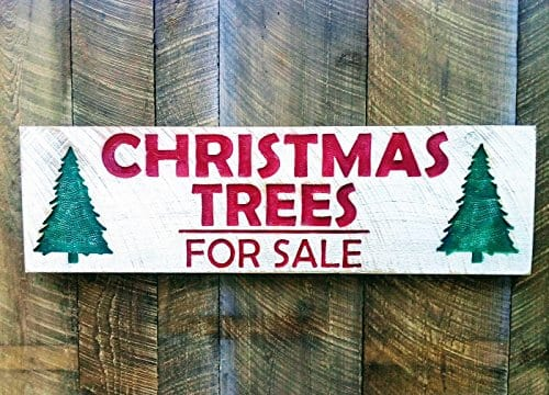 Christmas Trees For Sale Carved Sign 40x12 0 0