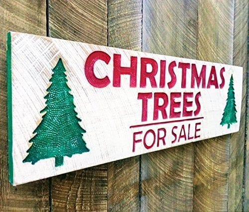 Christmas Trees For Sale Carved Sign 40x12 0
