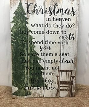 Christmas In Heaven Quote Reclaimed Wood Pallet Sign Home Decor 14x20 0 300x360