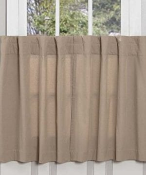 Claras Cottage Taupe Window Curtains 0 300x360