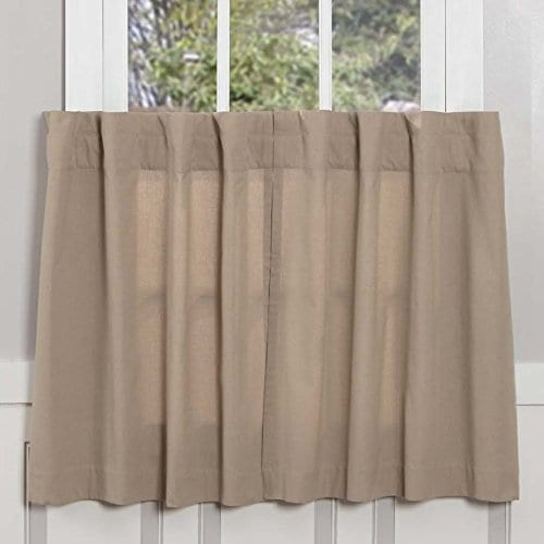 Claras Cottage Taupe Window Curtains 0