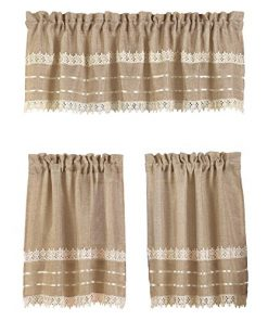 Collections-Etc-Country-Style-Burlap-Crochet-Lace-Kitchen-Cafe-Tier-Window-Valance-Set-Brown-0