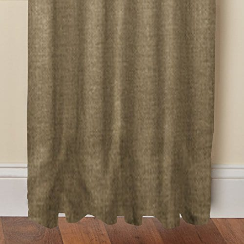 Cotton Craft 100 Jute Burlap Rod Pocket Window Panels Natural Set Of 2 Made From Eco Friendly 100 Natural Jute 0 1