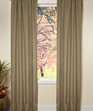 Cotton Craft 100 Jute Burlap Rod Pocket Window Panels Natural Set Of 2 Made From Eco Friendly 100 Natural Jute 0 300x360