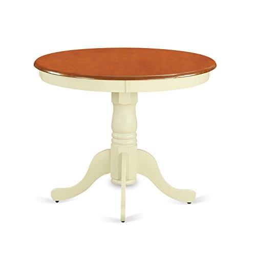 East West Furniture ANPL3 WHI C 3 Piece Kitchen Nook Dining Table Set ButtermilkCherry Finish 0 0