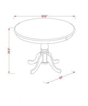 East West Furniture ANPL3 WHI C 3 Piece Kitchen Nook Dining Table Set ButtermilkCherry Finish 0 1 300x360