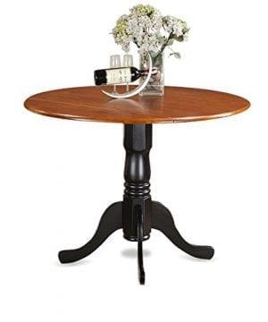 East West Furniture DLKE5 BCH W 5 Piece Kitchen Table Set BlackCherry Finish 0 0 300x360