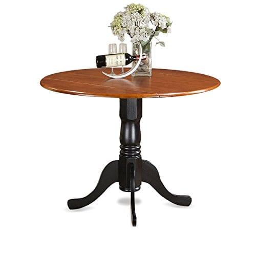 East West Furniture DLKE5 BCH W 5 Piece Kitchen Table Set BlackCherry Finish 0 0