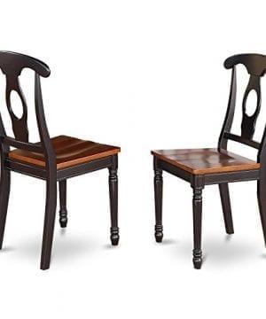 East West Furniture DLKE5 BCH W 5 Piece Kitchen Table Set BlackCherry Finish 0 1 300x360