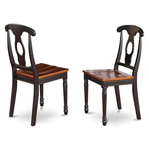 East West Furniture DLKE5 BCH W 5 Piece Kitchen Table Set BlackCherry Finish 0 1