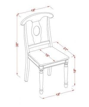 East West Furniture DLKE5 BCH W 5 Piece Kitchen Table Set BlackCherry Finish 0 3 300x360