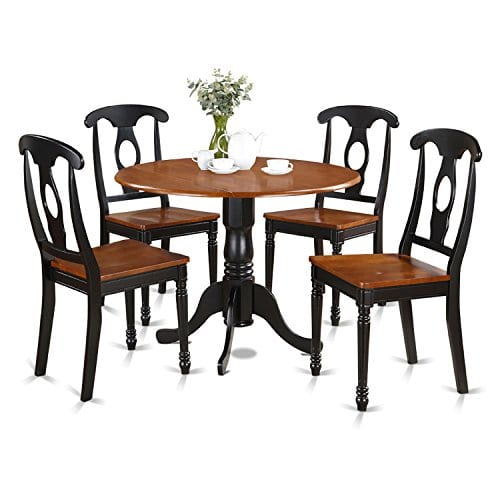 DLKE5-BCH-W 5 PC small Kitchen Table set-Table and 4 dinette Chairs