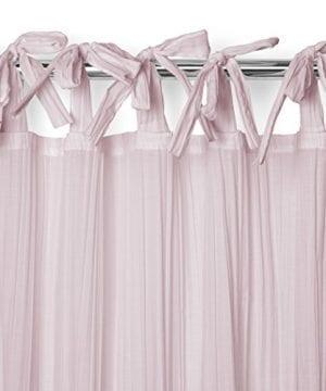 Elrene Home Fashions Crushed Semi Sheer Adjustable Tie Top Single Panel Window Curtain Drape 0 2 300x360