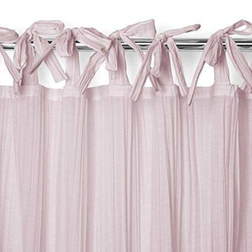 Elrene Home Fashions Crushed Semi Sheer Adjustable Tie Top Single Panel Window Curtain Drape 0 2