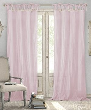 Elrene Home Fashions Crushed Semi Sheer Adjustable Tie Top Single Panel Window Curtain Drape 0 300x360