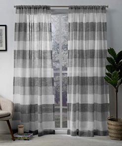 Exclusive-Home-Bern-Stripe-Sheer-Rod-Pocket-Curtain-Panel-Pair-0