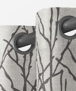 Exclusive Home Branches Linen Blend Window Curtain Panel Pair With Grommet Top 0 1 300x360