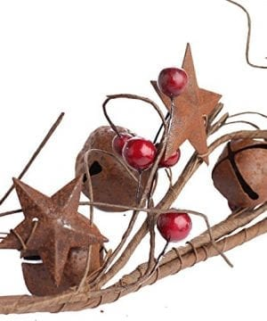 Factory Direct Craft 5 Feet Of Primitive Rustic Tin Star And Bell Garland For Home Decor Holiday 0 2 300x360