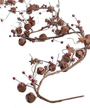 Factory Direct Craft 5 Feet Of Primitive Rustic Tin Star And Bell Garland For Home Decor Holiday 0 300x360