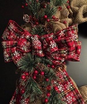 Farmhouse Christmas Wreath For Front Door 0 0 300x360