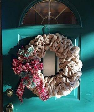 Farmhouse Christmas Wreath For Front Door 0 2 300x360