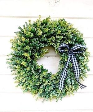 Farmhouse Wreath Eucalyptus Wreath Fall Wreath Winter Wreath Farmhouse Christmas Christmas Home Decor Holiday Wreath Front Door Wreath Holiday Wreath Holiday Home Decor Outdoor Wreath 0 300x360