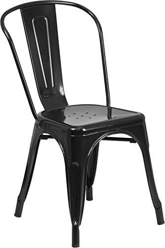 Flash Furniture 4 Pk Distressed Antique Blue Metal Indoor Outdoor Stackable Chair P 0